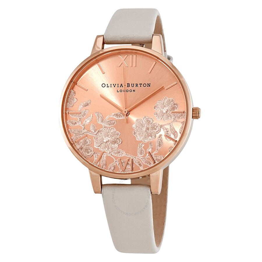 7963fd2c0 Olivia Burton Lace Detail Blush Rose Gold Dial Ladies Watch OB16MV53 ...