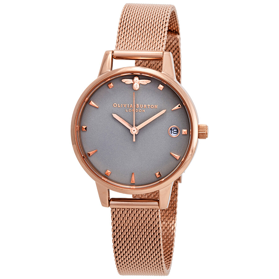 Olivia Burton Queen Bee Grey Dial Ladies Watch OB16AM122 - Olivia ... 0e65099704