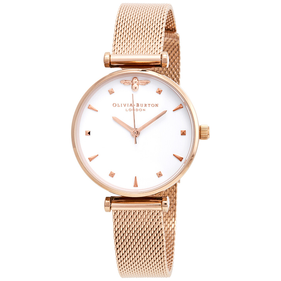 Olivia Burton Queen Bee White Dial Ladies Watch OB16AM105 - Olivia ... b8faa3ccc4