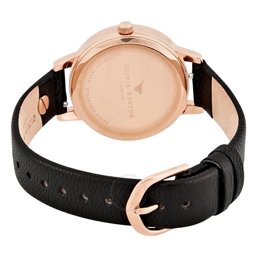 ffe43b08560 Olivia Burton Vintage Bow Black Dial Ladies Watch OB16VB07 - Olivia ...