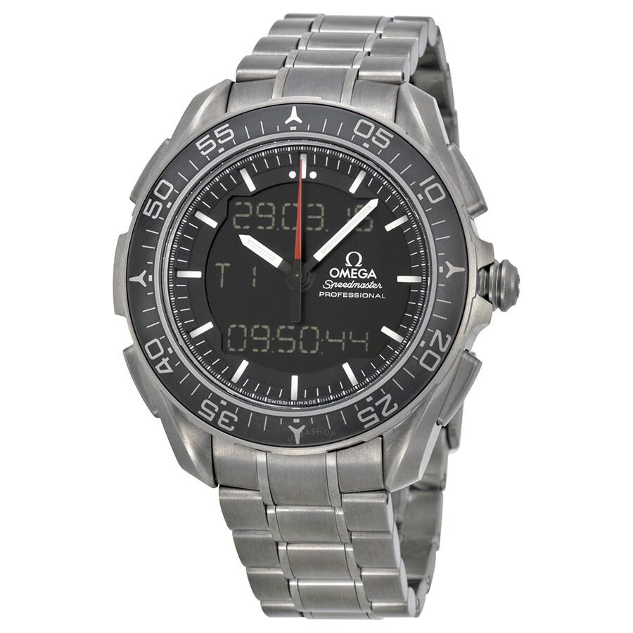 Omega speedmaster skywalker x 33 black dial titanium men 39 s watch 31890457901001 speedmaster for Omega watch speedmaster