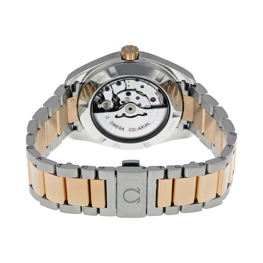 Omega Aqua Terra Automatic Silver Dial Steel And 18kt Rose Gold