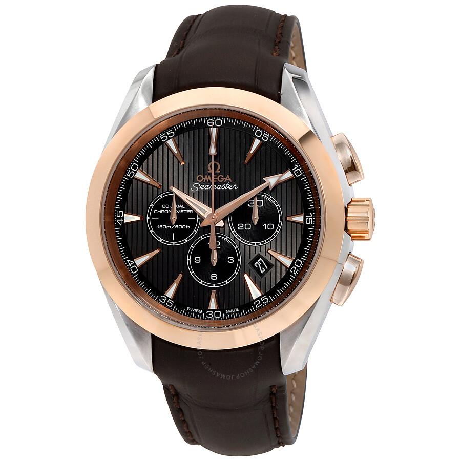 Omega aqua terra chronograph grey dial men 39 s watch seamaster aqua terra for Aqua marine watches