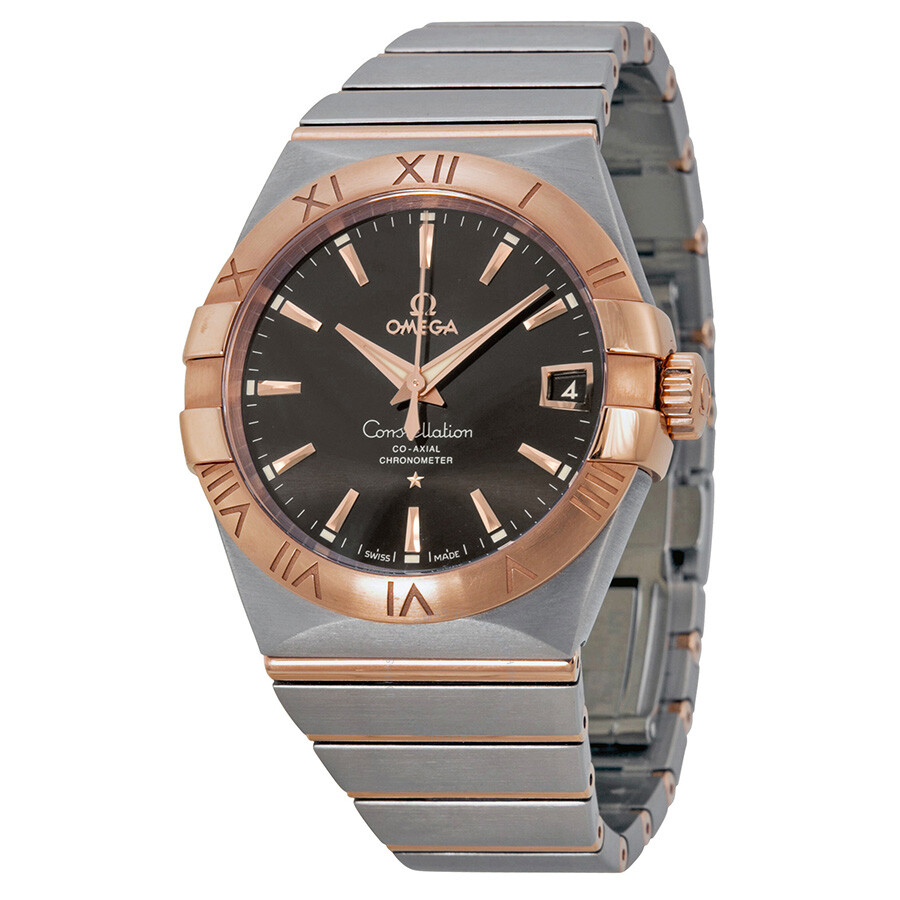Omega Constellation Automatic Brown Dial Stainless Steel Rose Gold