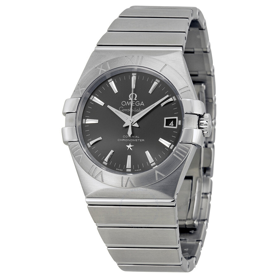 Omega constellation automatic grey dial stainless steel men 39 s watch 12310352006001 for Omega watch constellation