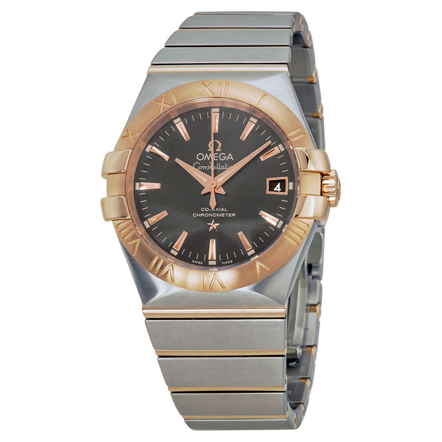 Omega Constellation Automatic Grey Dial Steel And 18kt Rose Gold