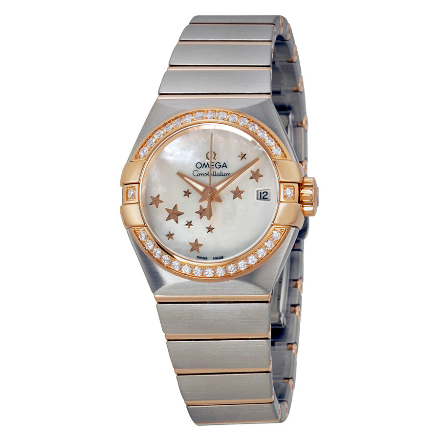 omega constellation womens rose gold