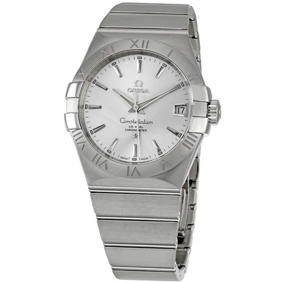 Omega constellation automatic silver dial men 39 s watch 12310382102001 constellation omega for Omega watch constellation