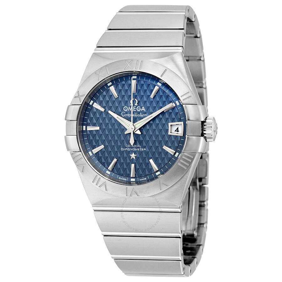 Omega Constellation Blue Dial Stainless Steel Automatic Men's Watch  12310382103001 ...