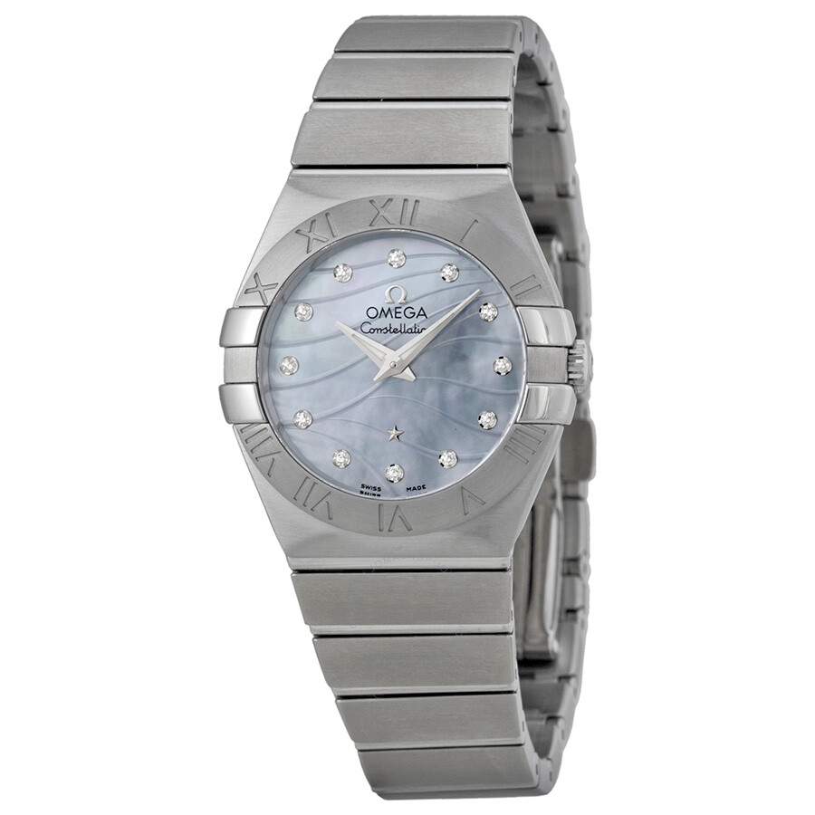 Omega constellation mother of pearl dial ladies watch constellation for Omega watch constellation