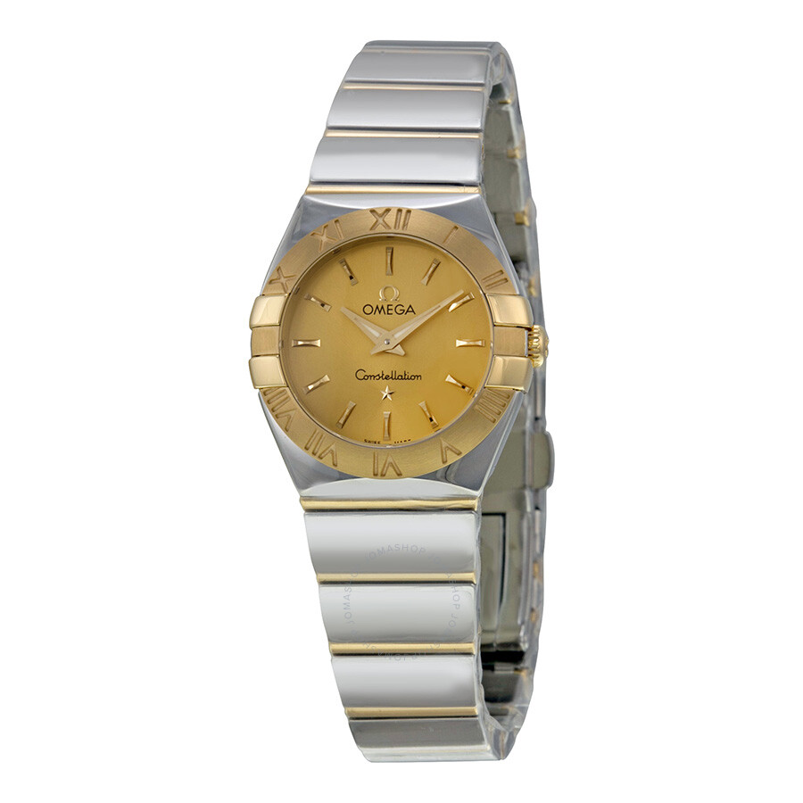envío gratis fc940 45cbf Omega Constellation Champagne Dial Yellow Gold and Stainless Steel Ladies  Watch 12320246008002