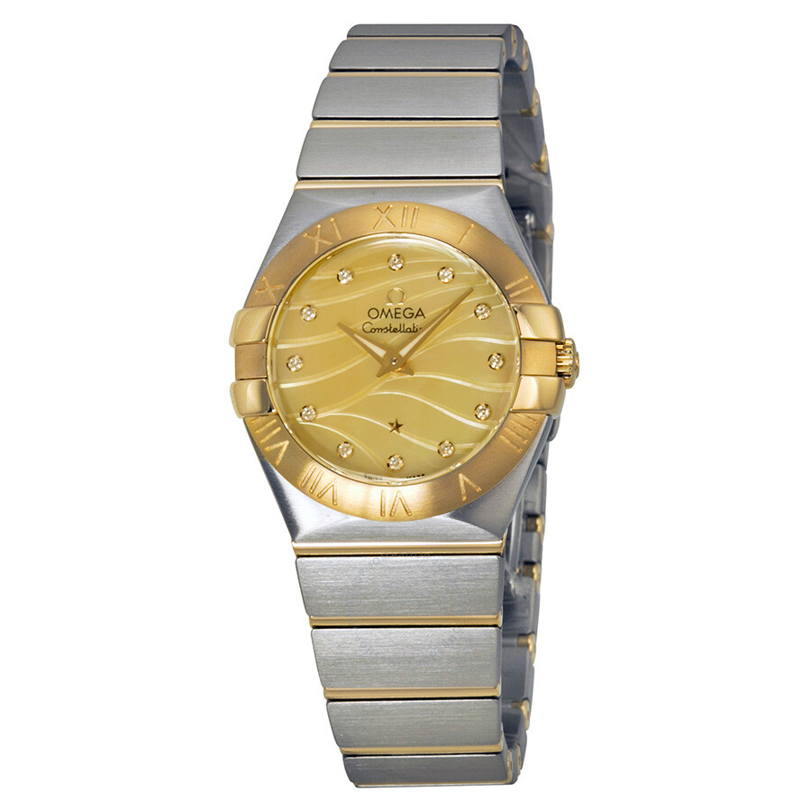 Omega Constellation Champagne Mother of Pearl Diamond Dial ...