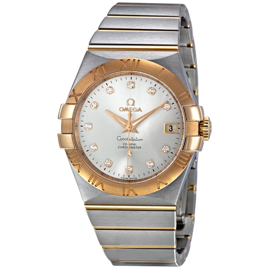 90109ee857f Omega Constellation Chronometer Silver Dial Watch 123.20.35.20.52.001 ...