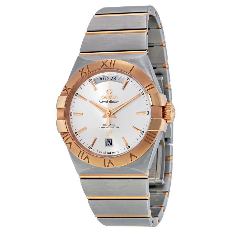 Omega Constellation Chronometer Silver Dial Red-Gold and ...