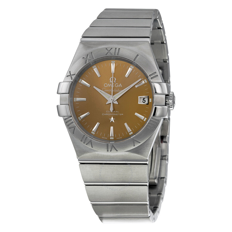 Omega constellation co axial bronze dial 35 mm stainless steel men 39 s watch for Omega watch constellation