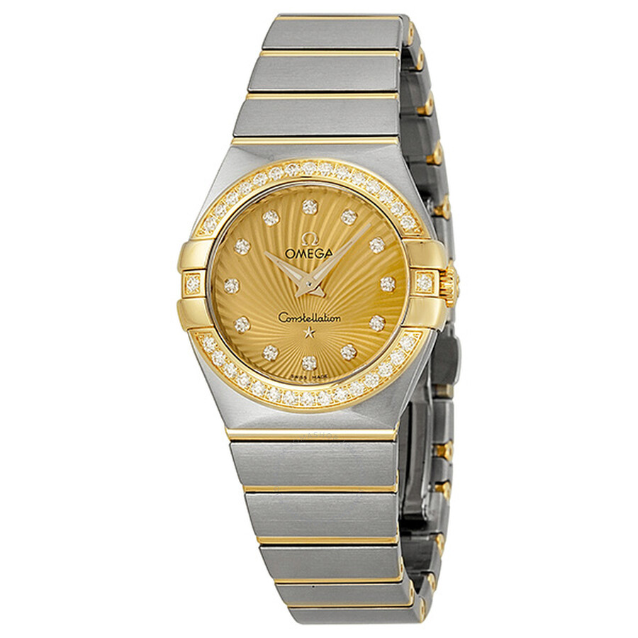 e1133ce633a Omega Constellation Diamond Yellow Gold Dial Two-Tone Steel Ladies Watch  12325276058001 ...