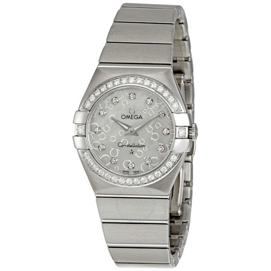 Omega constellation diamonds ladies watch 12315276055005 constellation omega watches for Omega watch constellation