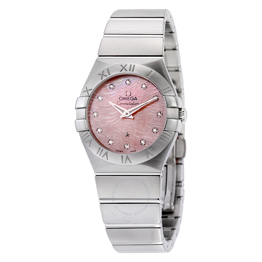 98167536a04 Omega Constellation Light Coral Mother of Pearl Dial Ladies Watch  123.10.27.60.57.002 ...