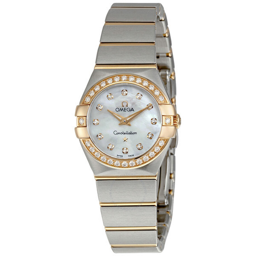 Omega constellation mini diamond ladies watch 12325246055001 constellation omega watches for Omega watch constellation