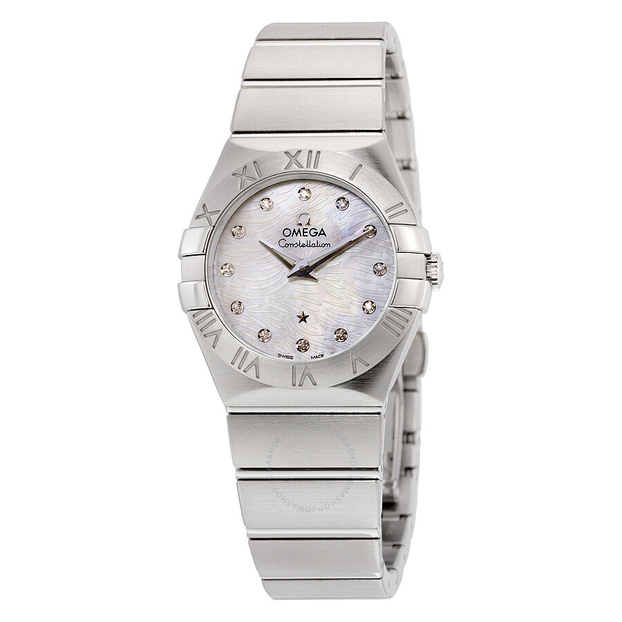 Omega constellation mop dial stainless steel ladies watch 12310276055004 constellation omega for Omega watch constellation