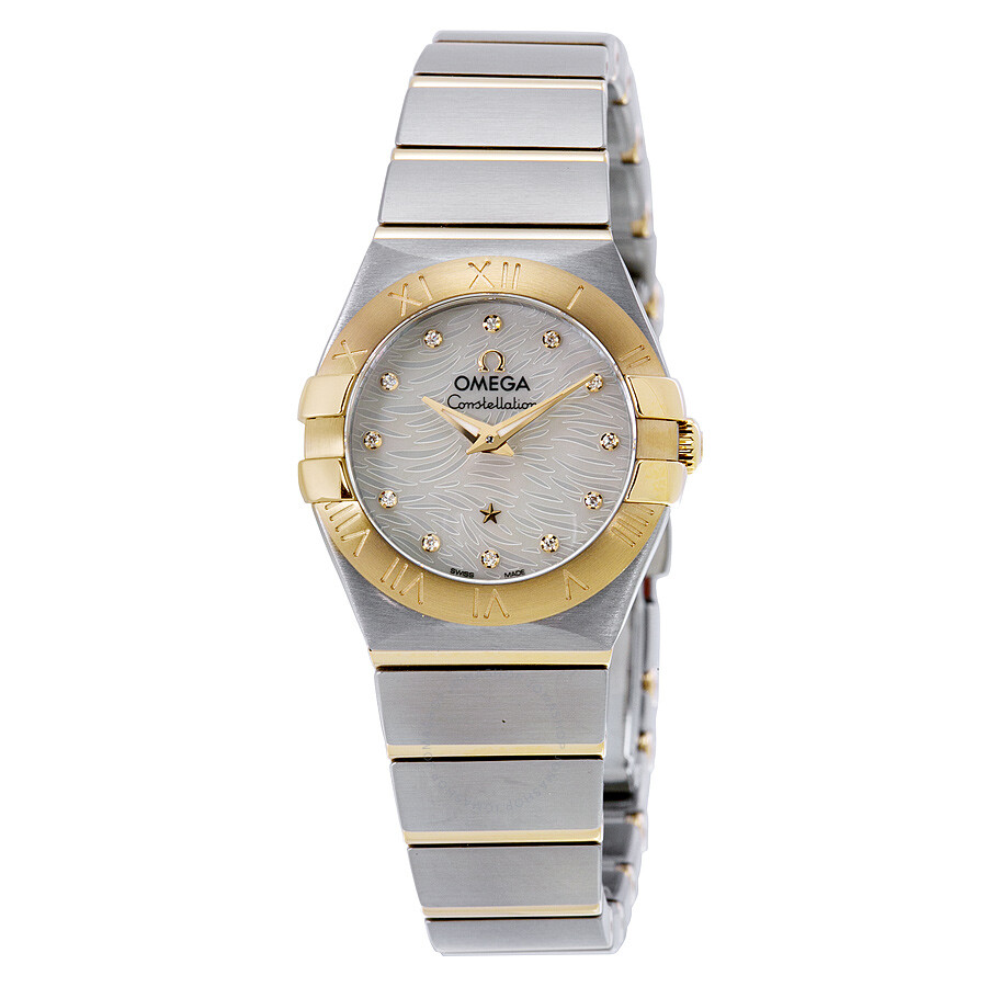Omega constellation mother of pearl dial ladies watch constellation for Pearl watches
