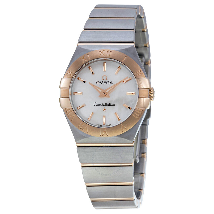 Omega constellation mother of pearl dial ladies watch 12320276005001 constellation omega for Omega watch constellation