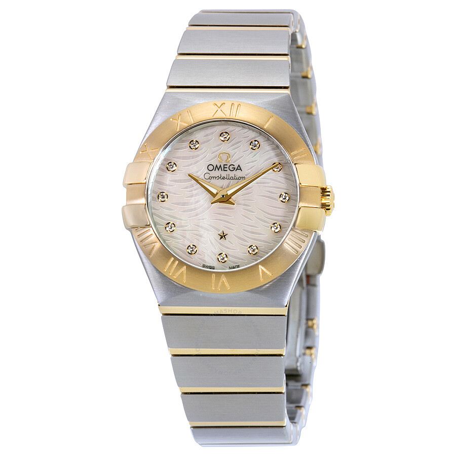 omega constellation of pearl stainless steel