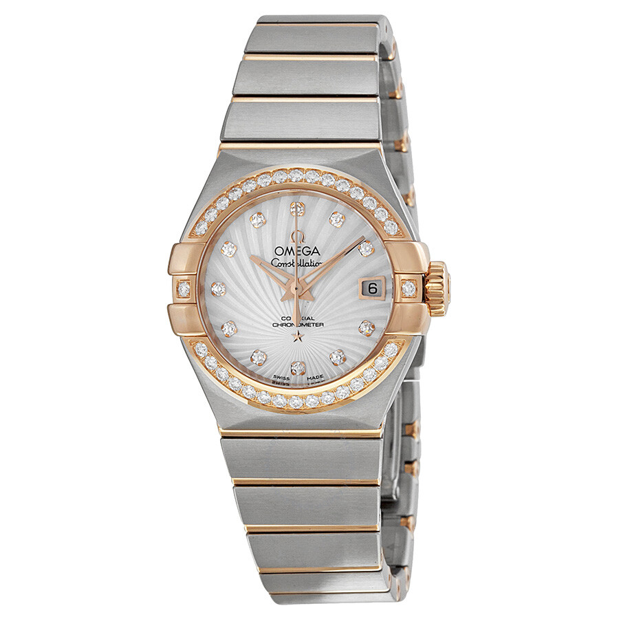 Omega Constellation Mother of Pearl Diamond Dial Ladies ...