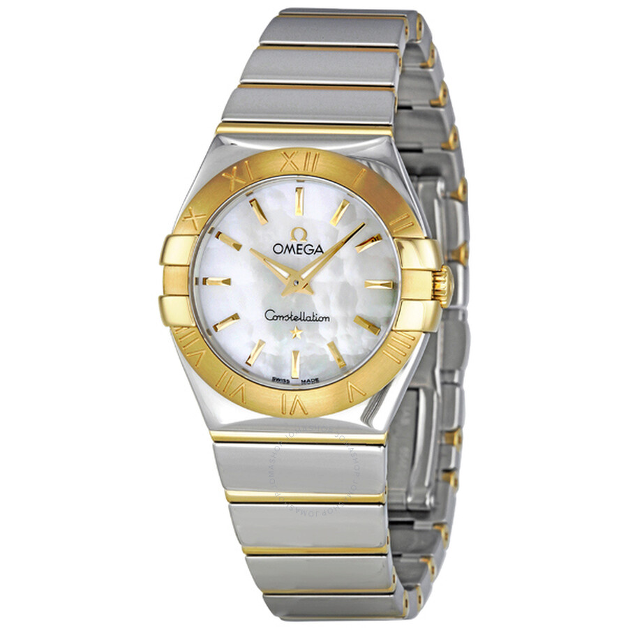 d4a40704eea Omega Constellation Mother of Pearl Dial Steel and Yellow Gold Ladies Watch  123. Item No. 123.20.27.60.05.004