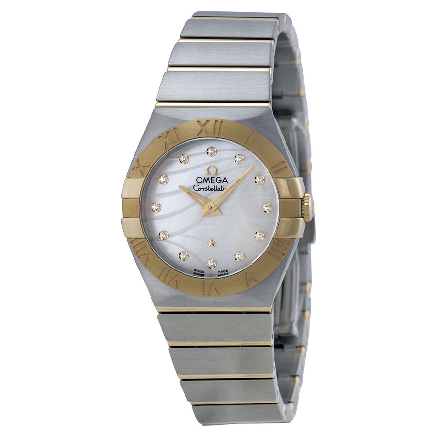 8ef8d26eecef Omega Constellation Mother of Pearl Steel and 18kt Yellow Gold Ladies Watch
