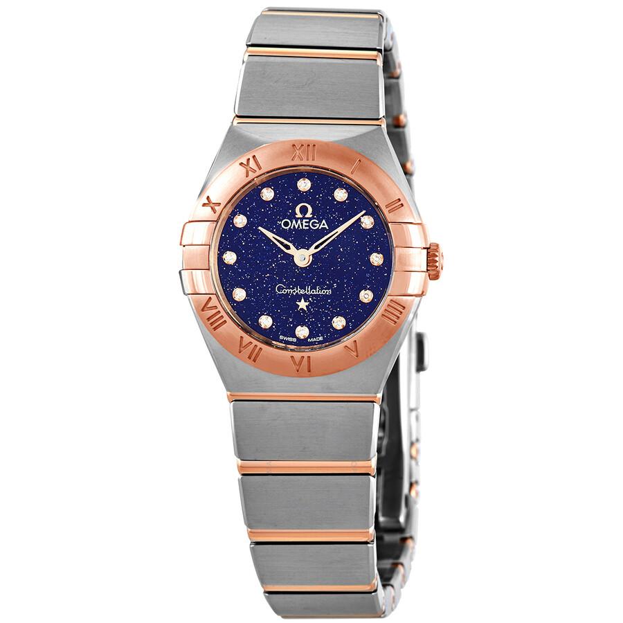 Constellation Quartz Diamond Blue Dial Ladies Watch 131.20.25.60.53.002