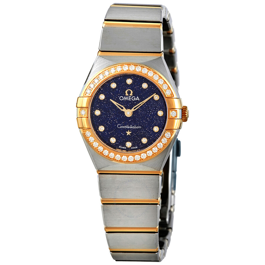 Constellation Quartz Diamond Blue Dial Ladies Watch 131.25.25.60.53.001