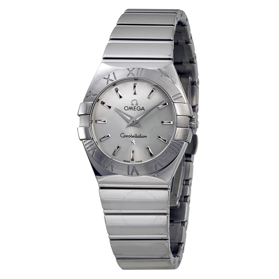 Omega constellation silver dial ladies watch 12310276002002 constellation omega watches for Omega watch constellation