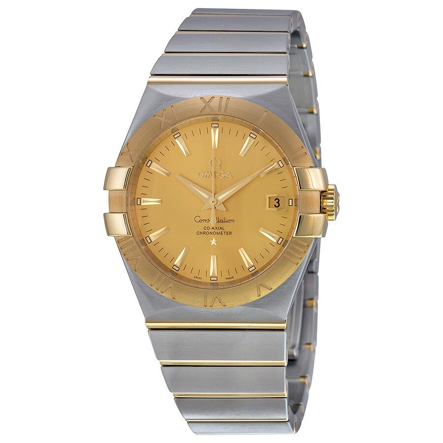 Omega constellation two tone men 39 s watch constellation omega watches for Omega watch constellation