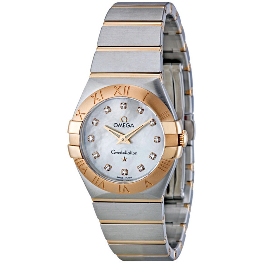 Omega Constellation White Mother of Pearl Dial Ladies Watch  123.20.27.60.55.001 ...