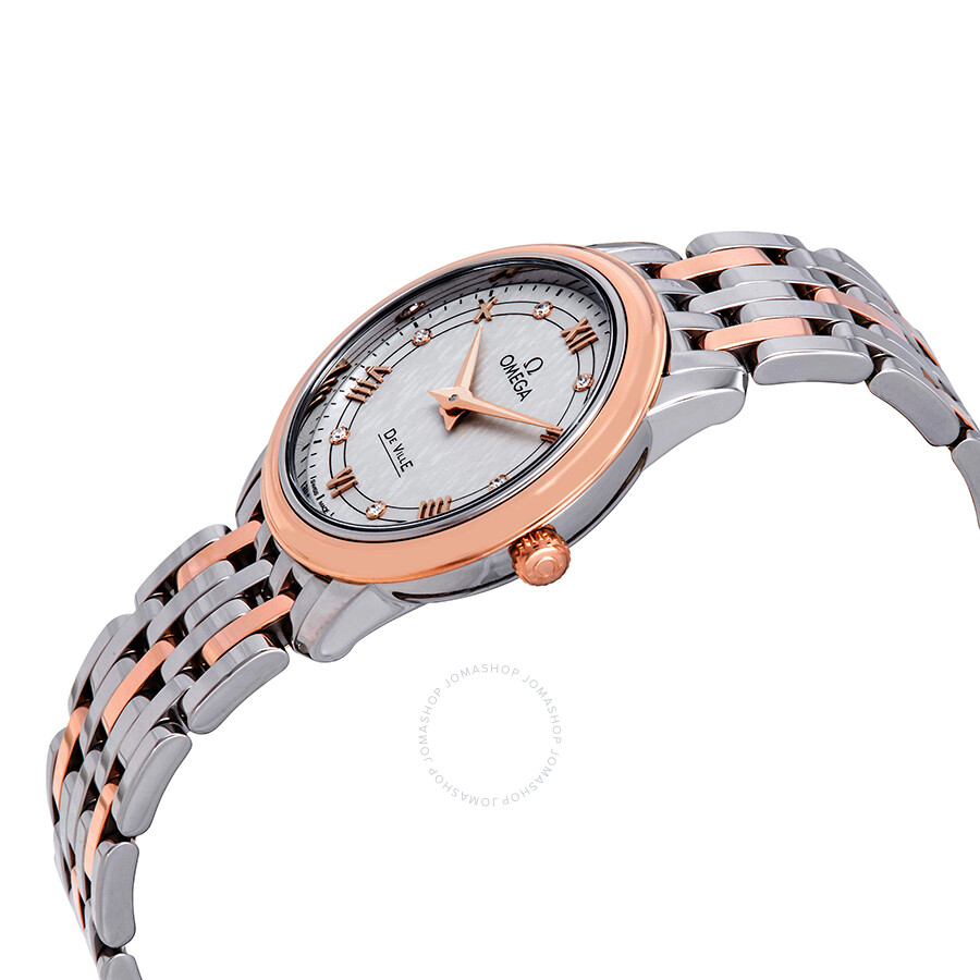 De Ville Diamond Silver Dial Two-tone Ladies Watch 424.20.27.60.52.003