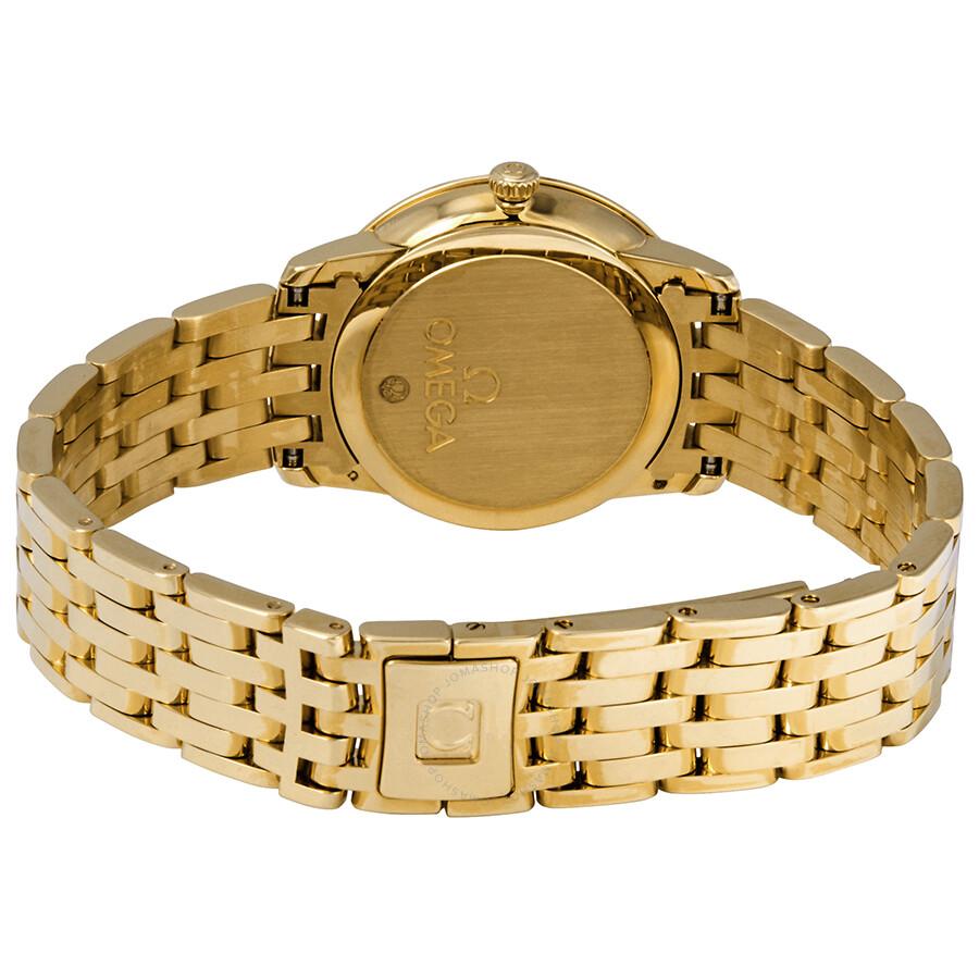 0440eaaff67 ... Omega De Ville Prestige 18kt Yellow Gold Champagne Dial Ladies Watch  424.50.27.60.08.001