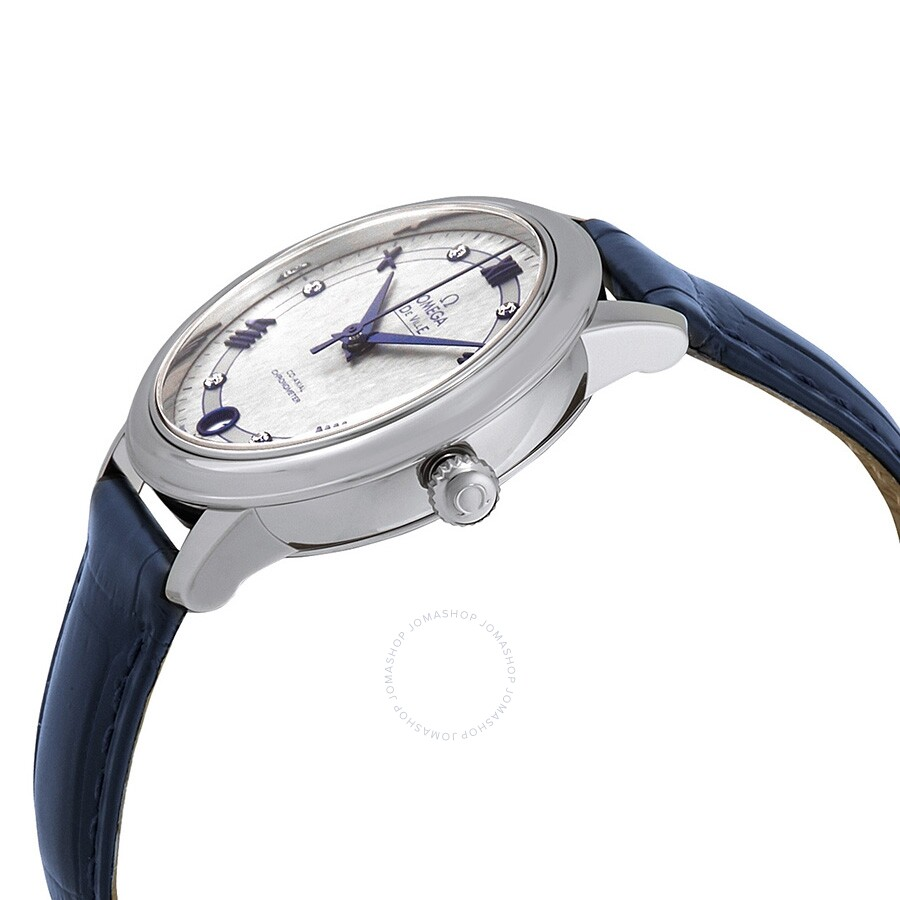 De Ville Prestige Automatic Diamond Grey Dial Ladies Watch 424.13.33.20.56.002