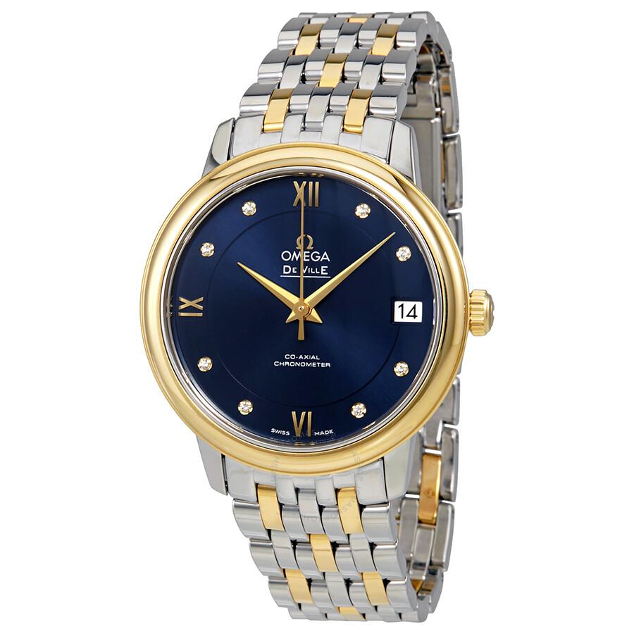 0523c2c58291 Omega De Ville Prestige Automatic Ladies Two Tone Watch 424.20.33.20.53.002  ...
