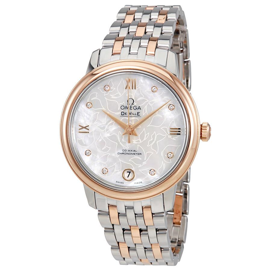 3ec9fe826cff Omega De Ville Prestige Butterfly Mother Of Pearl Dial Automatic Ladies  Watch 42420332055001 ...