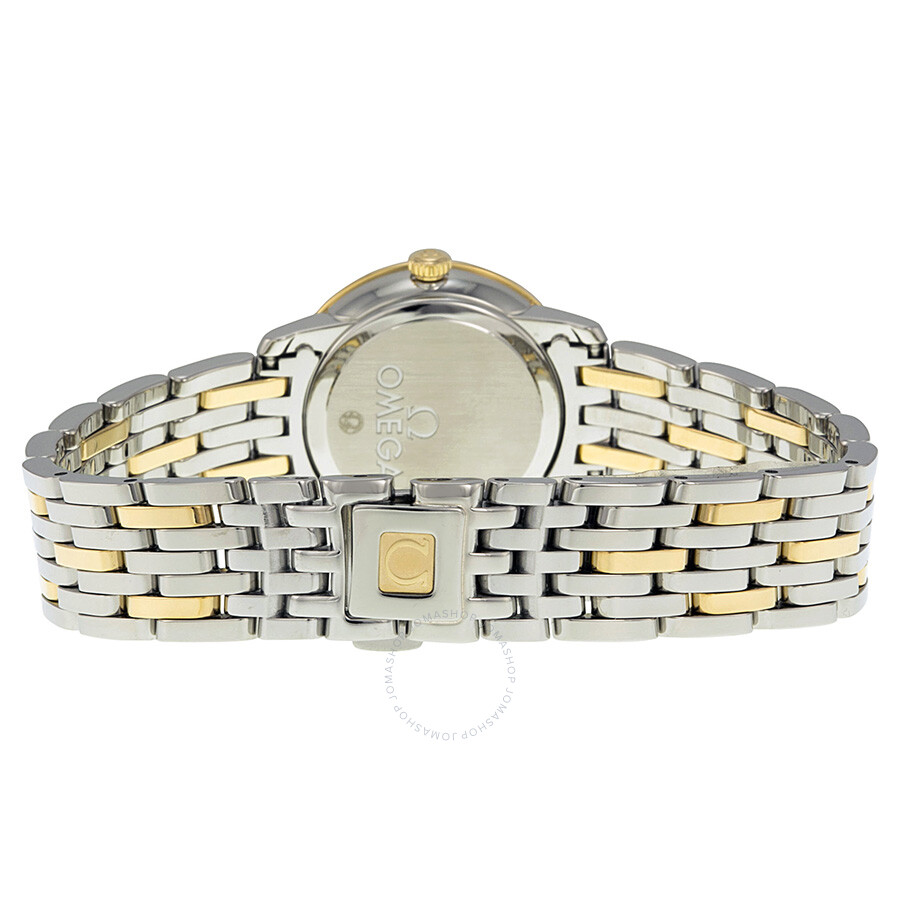 f7bd5d92a1f ... Omega De Ville Prestige Champagne Diamond Dial Steel and Yellow Gold  Ladies Watch 42425246058001
