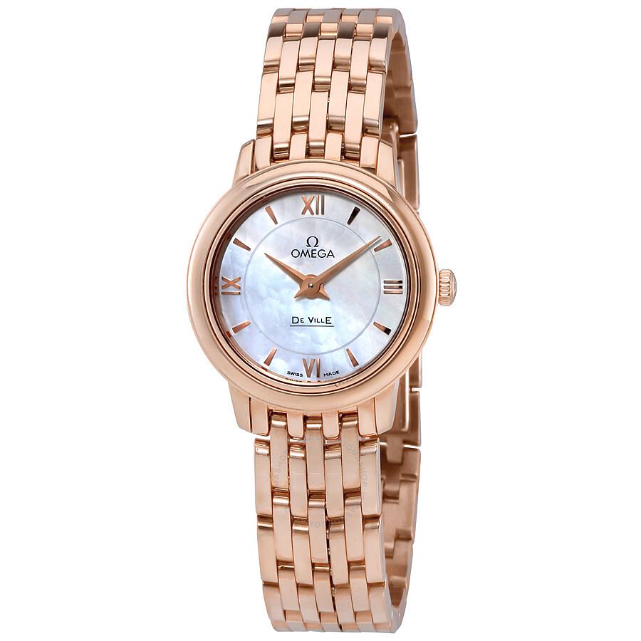 1517d31dd18 Omega De Ville Prestige Mother of Pearl Dial Ladies Watch 42450246005002 Item  No. 424.50.24.60.05.002