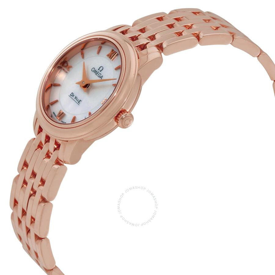 47bcc3b1afd ... Omega De Ville Prestige Mother of Pearl Dial Ladies Watch  42450246005002 ...