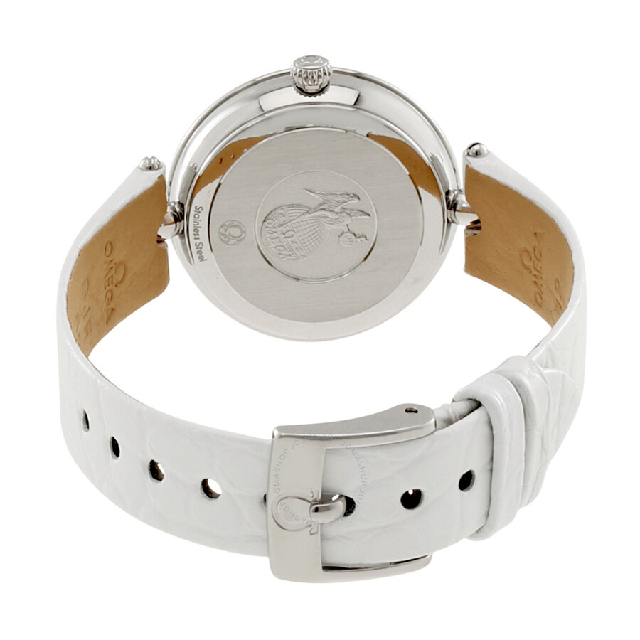 30fa2c43f54 ... Omega De Ville Prestige Mother of Pearl Diamond Dial Stainless Steel  Ladies Watch 424.18.27.60