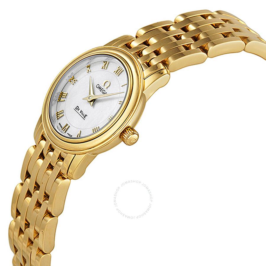 510d3ac732b ... Omega De Ville Prestige Mother of Pearl Yellow Gold Ladies Watch  4170.71 ...