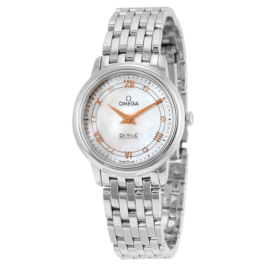 Omega deville mother of pearl dial ladies watch 42410276055001 de ville omega watches for Mother of pearl dial watch