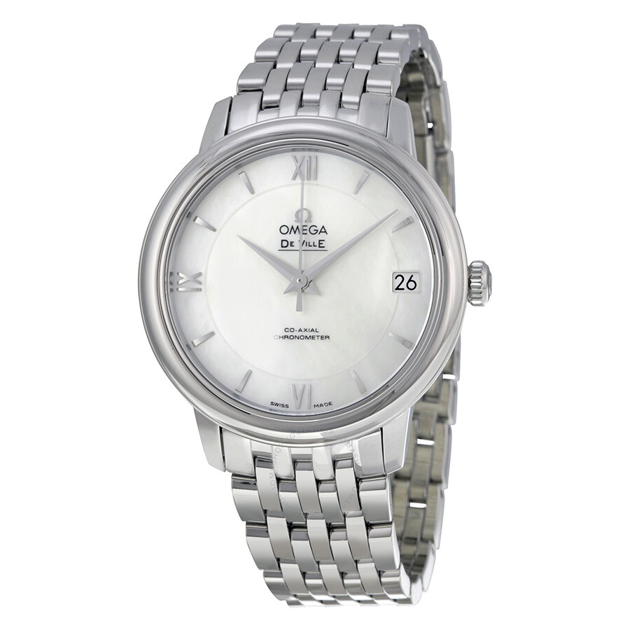 Omega DeVille Prestige Mother of Pearl Dial Stainless ...
