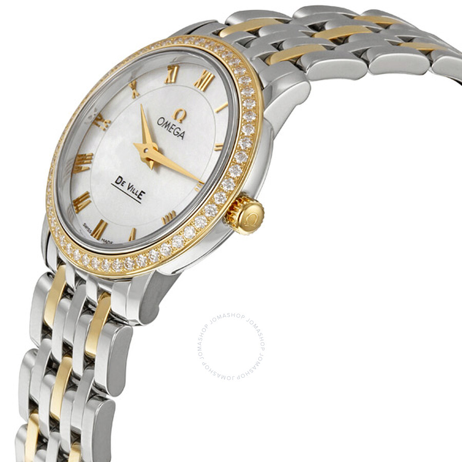 07f1921a1dc ... Omega DeVille Prestige Two Tone Ladies Watch 413.25.27.60.05.001 ...
