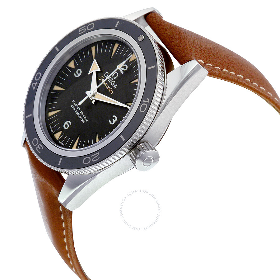 Omega seamaster 300 automatic black dial men 39 s watch seamaster omega for Omega watch seamaster