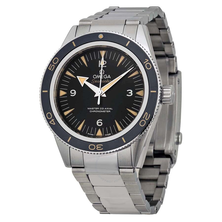 omega watches on jomashop omega seamaster 300 automatic black dial men s watch 23330412101001
